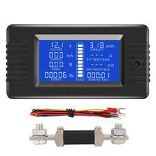 0-200V Digital Monitor LCD SOC/Volt/Amp/Watt Meter Batterie Power Analysator