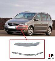 Pour VW Touran 2007 - 2010 Neuf Avant Pare-Choc Moulure Gauche N/S Avec Chrome