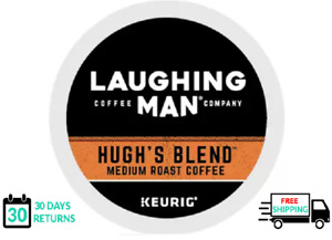 Laughing Man Hugh's Blend Coffee Keurig K-cups YOU PICK THE SIZE