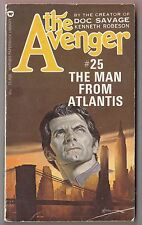 The Avenger #25 Man From Atlantis Kenneth Robeson Warner 75609 1974 Ron Goulart