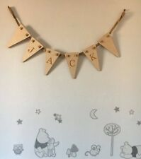 Wooden Bunting - Personalised - New Baby - Wedding - Party - Childs Room - Flag