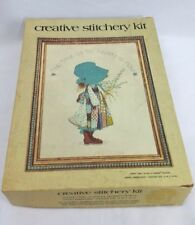 Holly Hobby Happy Time 1973 Crewel Embroidery Hollie Hobbie Kit Vintage 0304