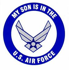My Son is in the Air Force with Symbol Decal