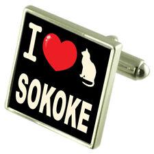 I Love My Cat Cufflinks Sokoke