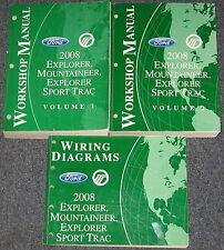 2008 Ford Explorer Mercury Mountaineer Sport Trac Service Manual Set