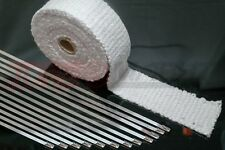 Ceramic 15 Metre Exhaust Tape 50 mm wide by 1200 ° C MANIFOLD incl. Mounting