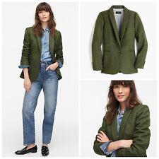 $248 J.CREW Size 10 Parke Blazer in English Wool MEADOW MULTI GREEN K0485