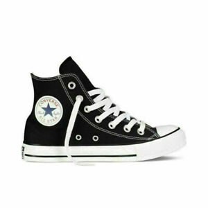 Converse Chuck Taylor All-Star Black White Unisex Hi-Tops Trainers Shoes Sneaker
