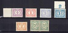 Nederland 50 - 55 Cijfer 1899 postfris met de originele gom, lees svp