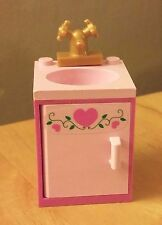 LEGO City Custom Furniture Belville BATHROOM SINK Door w/ Pink Hearts - Friends!
