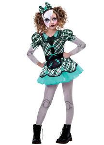 Childrens Halloween Doll Dark Gothic Kids Scary Fancy Dress Horror Costume