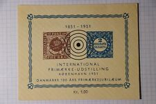 Intl Frimerke Udstilling Sc 1, 2 1851 Reprints Ss Mnh Philatelic Souvenir Label