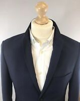 Topman Mens Blue Slim Fit Wool Blend Suit Jacket Blazer Fully Lined Sz 38 VGC