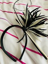 Marks and Spencers Black and Cream Fascinator Headband