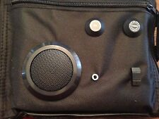 NEW Cooler Lunch Bag w/ AM/FM Radio Earphone Jack Black