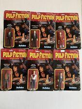 LOT OF 6 PULP FICTION REACTION ACTION FIGS-Jules,Vince,Wolf,butch,Jim,Mar-READ!!