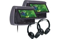 "2x Concept Chameleon 9"" LCD Headrest With Miracast + 2x IR Headphone - BSD-905M"