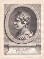 Portrait XVIIIe Robert I Du Saint Empire Comte Palatin Ruprecht III de Palatinat