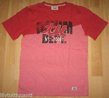 TIMBERLAND ♥ T-shirt rouge et rose imprimé manches courtes ♥ 10 ans