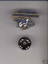 LOT 10x NASHVILLE PREDATORS NHL Hockey Team NAME & LOGO HAT LAPEL PIN New Sealed