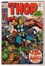 Marvel Comics  FN+ 6.5  mid grade THOR  #177 1970  AVENGERS one god must fall