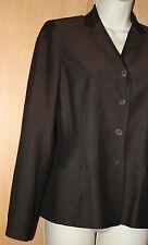 Ann Taylor Silk Jacket~Dark Brown~Suit~Jacket Sz 4~Lined~Pants Sz 2