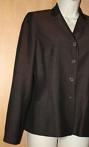 Ann Taylor Silk Jacket Dark Brown Suit Jacket Sz 4 Lined Pants Sz 2