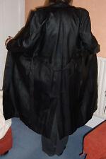 Ladies Modern Classics Full Length Black Leather Coat BNWOT