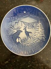 B&G Copenhagen Porcelain collector plate 1980 Christmas In The Woods
