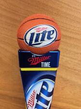 Miller Lite Basketball Vortex Topper Beer Tap Handle Marker - New in Box - RARE