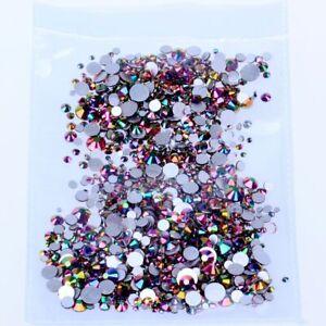 Non hotfix Rhinestones FlatBack Glass Stone Glitter Strass Nail Art Decoration