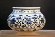 Very Fine & Old Chinese Blue and White porcelain Brush Pot With Flora motif.