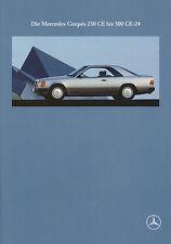 Prospekt Mercedes 230 CE 300 CE-24 W 124 1991 8/91 Autoprospekt Coupé Broschüre