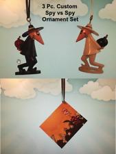 NEW 3 Pc SPY vs SPY Custom Christmas Ornament Set Figures Book Mad Magazine RARE