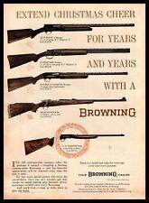 1961 Browning Arms Automatic-5 Shotgun High-Power Rifle Christmas Cheer Print Ad