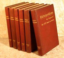 "Berg, Leo Hrsg.""Kulturprobleme der Gegenwart"" 6 Bd`e, Berlin, Raede 1902-04"