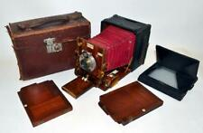 Antique SANDERSON HAND Folding Plate Camera With ZEISS / ROSS Lens & Accessories