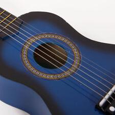 """21"""" Kids Gift Beginners Practice Acoustic Guitar + Pick + 6 String Black Wood"""