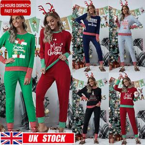 Plus Size Women Christmas Pyjamas Pajamas Set Ladies Xmas Festive Nightwear PJs