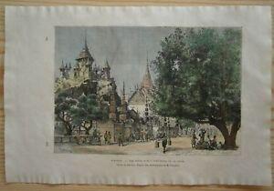 1883 Reclus print BANGKOK, THAILAND (#75)