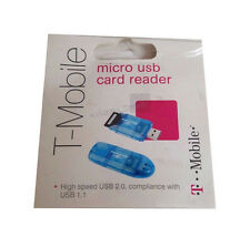 NEW T-Mobile SD Card to USB 2.0 Reader SD & SDHC Memory Writer Flash Drive Blue