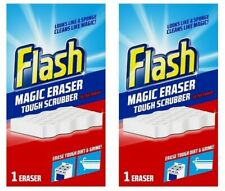 2x Flash Magic Erasers Extra Power Stain Remover Sponge Scrubber Scourer Cleaner
