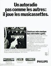 PUBLICITE ADVERTISING 106  1970   Philips  autoradio les multicassettes RN 302