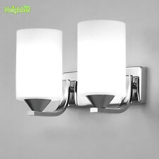 NEW Glass Shade Wall Lamp Bedroom Bedside Porch Single Double Light Fixtures