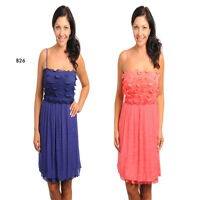 B26 Womens Wedding Formal Evening Cocktail Party Spring RacePlus Size Dress