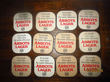 12 ABBOTS LAGER 1960,s Issue COASTERS collectable