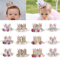 Cute Baby Girl Headband Crown Flower Tiara Hair Bands Birthday Party Accessories