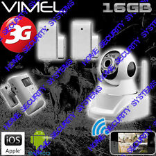 Wireless Security Camera 3G House GSM Surveillance Alarm System Farm Remote View