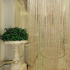 String Door Curtain Beads Room Divider Window Panel Tassel Crystal Fringe Beaded