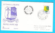 BUSTA FDC SPECIALE SAN MARINO CAPITOLIUM VIAGGIATA 1979 TORNEO BALESTRA 1 VAL.